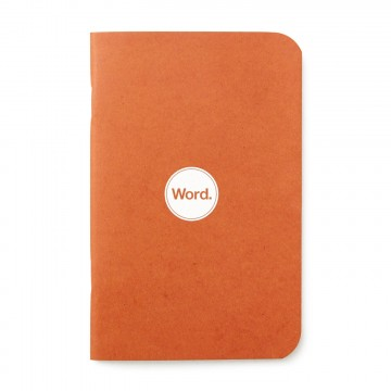 Orange 3-Pack - Memo book:  Word notebooks are designed to help organize your life while looking good in your pocket or bag. Each notebook...