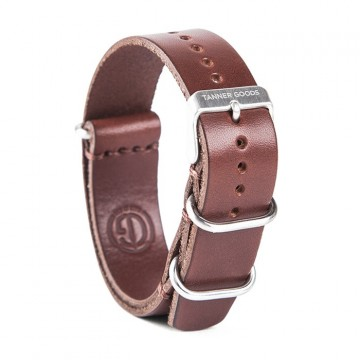 Nato English Bridle Watch Strap:  This Nato Watch Strap is cut from a single piece of Meridian English Bridle leather  and features matte Zulu keepers...