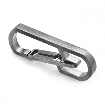 H1 Carabiner:   Quick Release Titanium Keychain Carabiner  