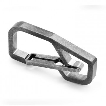 H4 Carabiner:   Quick Release Titanium Keychain Carabiner  