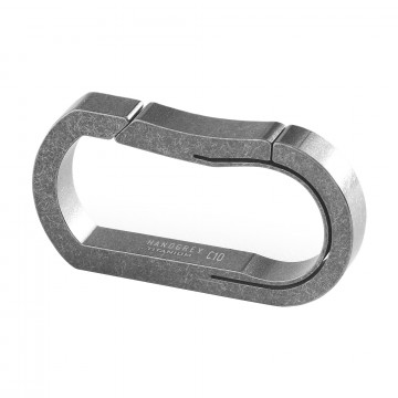 C10 Carabiner:   Unibody Titanium Keychain Carabiner  