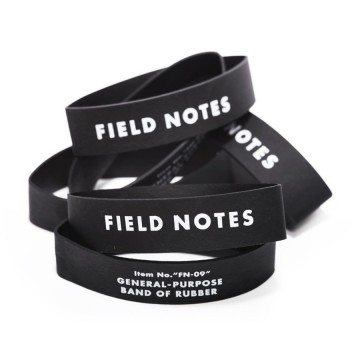 Band of Rubber 12-Pack:  The Field Notes Band of Rubber fits perfectly around a single notebook. I can also be used to put together that pile...