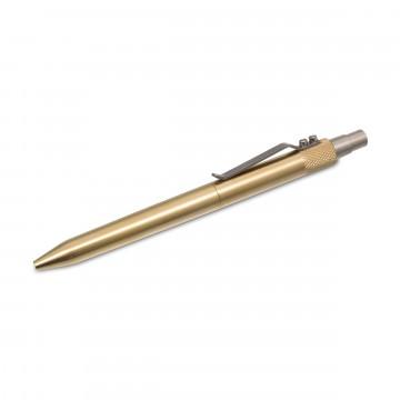 Retrakt Brass Pen:   Brass machined click pen    The Retrakt pen has many design elements that make it stand out as a unique, quality...
