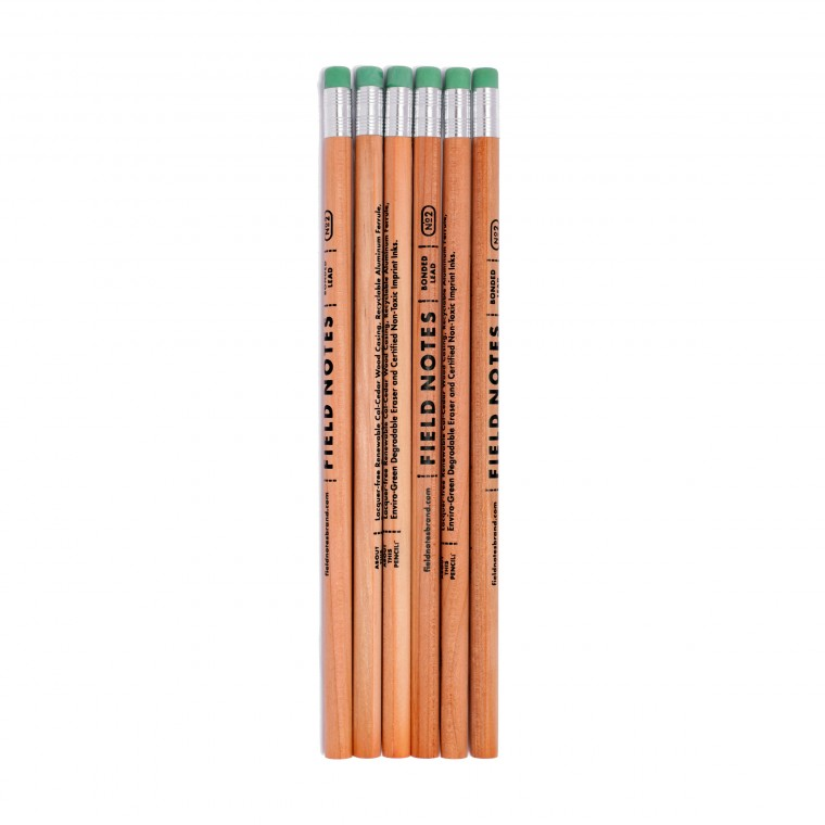 Field Notes No. 2 Woodgrain 6-Pack Pencils