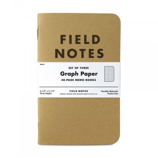 Kraft 3-Pack - Muistivihko:  Kolme 48-sivuista niiteillä sidottua rehellistä muistivihkoa samassa paketissa. Field Notes Kraft -muistivihkot...