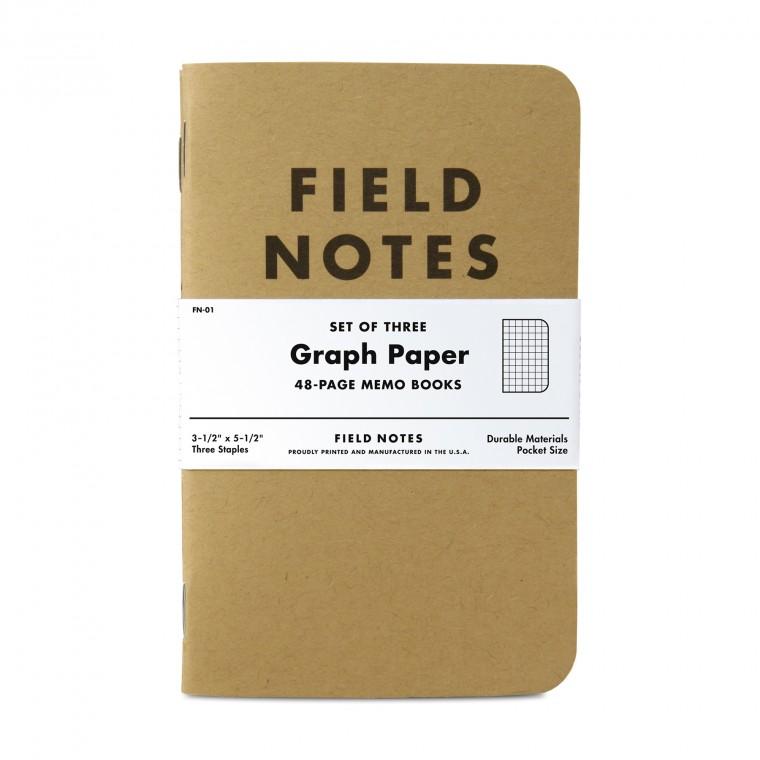 Field Notes Kraft 3-Pack Memo Book