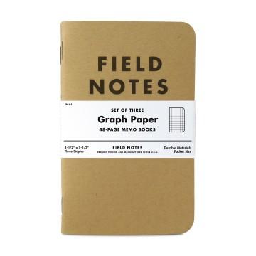 Kraft 3-Pack - Anteckningsbok:  3-pack med 48 sidor ärliga memoböcker värda att fylla med nyttig information. Field Notes Kraft memoböcker passar i...