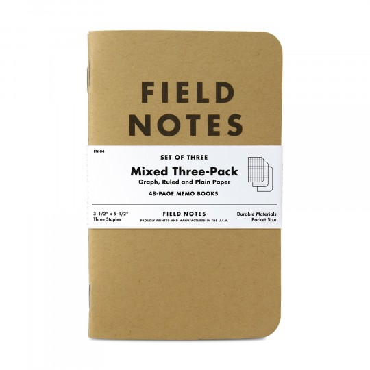 Kraft 3-Pack Memo Book