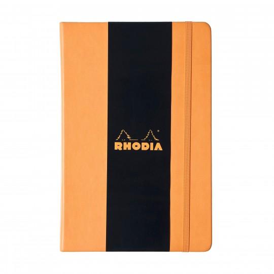 Webnotebook A5 - Muistivihko:  Rhodia Webnotebook sopii niille, jotka odottavat muistiinpanovälineeltään laatua ja korkealuokkaisia materiaaleja. M...