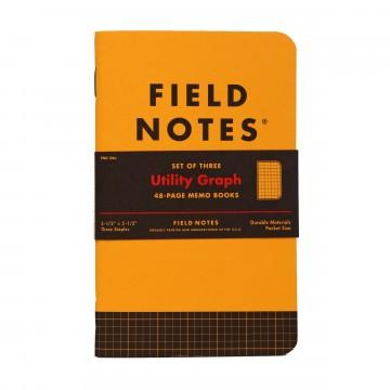 Utility 3-Pack - Muistivihko:  Käyttäessään ja valmistaessaan muistivihkoja vuosien ajan, Field Notes huomasi kannessa olevan viivoittimen olevan...