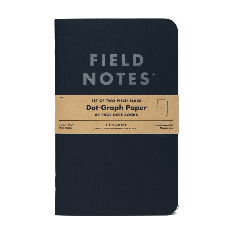 Field Notes Pitch Black Large 2-Pack Note Book