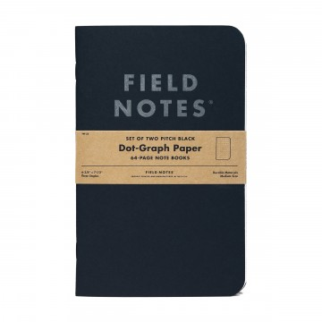 Pitch Black Large 2-Pack Note Book:  Field Notes has been making memo books for 10 years now, and – with a few exceptions – they have always fit in your...