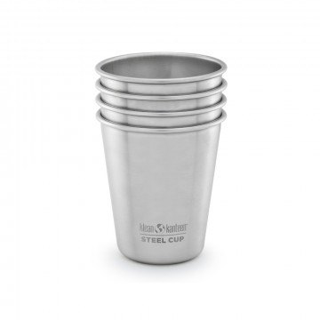 Steel Cup 296 ml 4-Pack:  Stainless Steel Cup is easy to bring to parties, camping and use at home. The perfect cup for water or snacks and a...