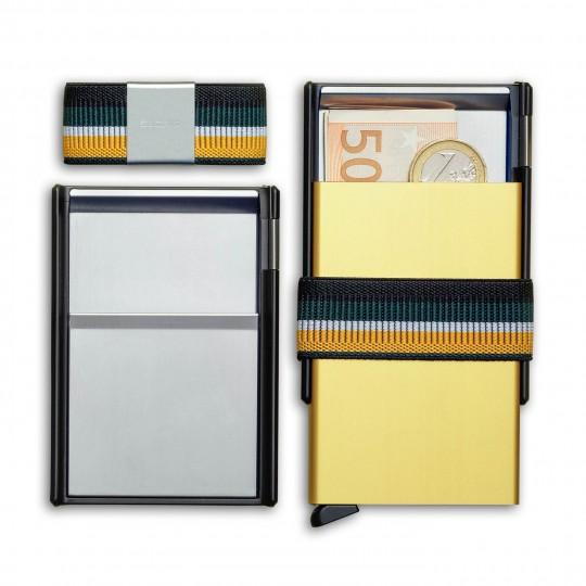 Custom Cardslide - Lompakko:   Luo oma kustomoitu Cardslide-lompakko valitsemalla alta haluamasi Cardprotector + Moneyband + Slide -yhdistelmä