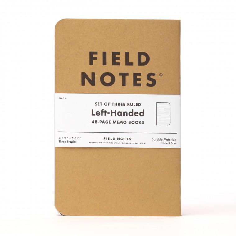 Field Notes Kraft Left-Handed 3-Pack Memo Book