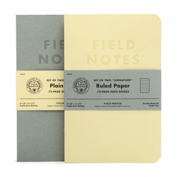Signature 2-Pack Memo Book:  Field Notes tested the new notebook form factor that is slightly bigger than regular pocket size notebook, while...
