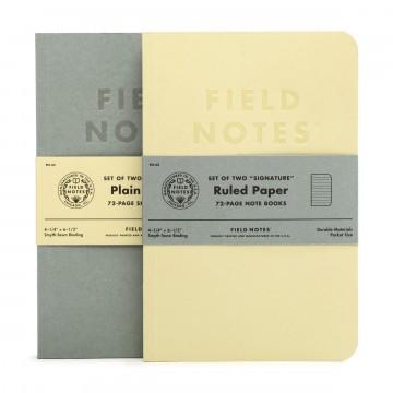 Signature 2-Pack - Muistivihko:  Field Notes testasi uutta muistivihkokokoa, joka on hieman isompi kuin normaali taskukokoinen muistivihko yleensä,...