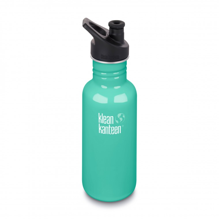 Klean Kanteen Classic 800ml Bottle with Sport Cap 3.0 Shale Black