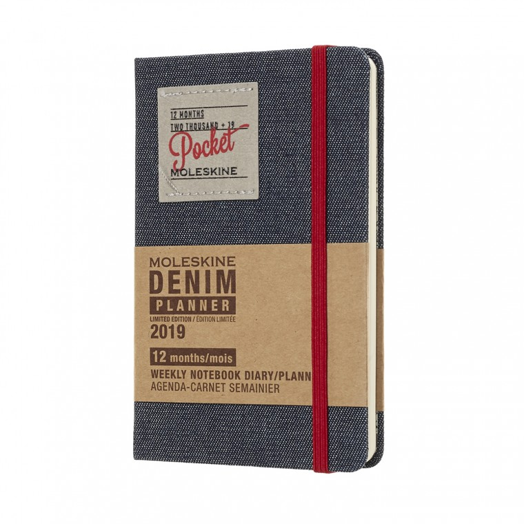 Weekly Notebook Pocket Denim 2019 - Kalenteri
