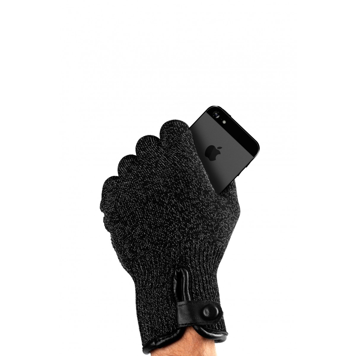 Mujjo GLKN-012-S Double-Layered Touchscreen Gloves