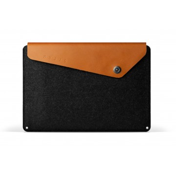 "15"" Macbook Pro Retina Sleeve:  Crafted out of felt and vegetable-tanned leather, this sleeve is designed to fit the 15"" Macbook Pro Retina. The..."