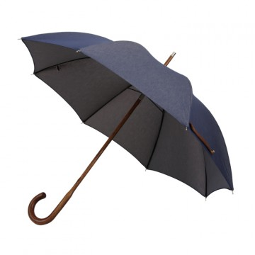 D-LUX Umbrella:   London Undercover D-LUX umbrella holds the rain reliably with British class. Solid stick Hickory wood handle &...