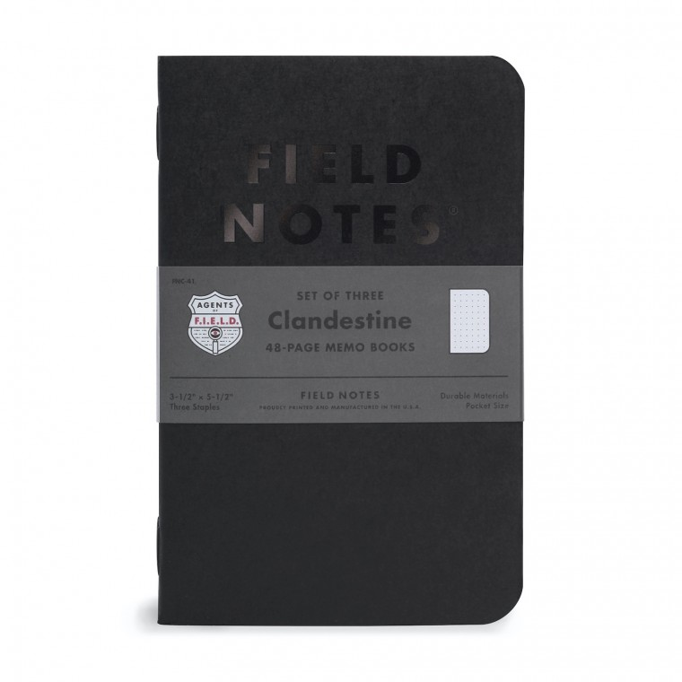 Field Notes Clandestine 3-Pack - Muistivihko
