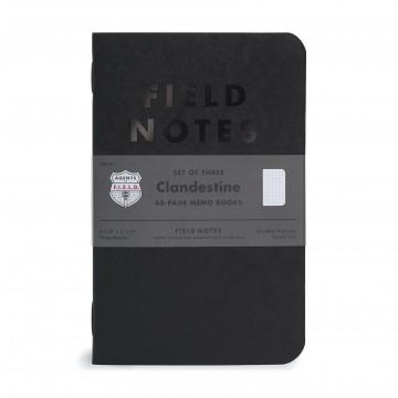 Clandestine 3-Pack - Muistivihko:  Clandestine-muistivihkossa on salamyhkäinen tunnelma, joka tuo mieleen koodit ja salakirjoituksen. Ulkoapäin vihko...